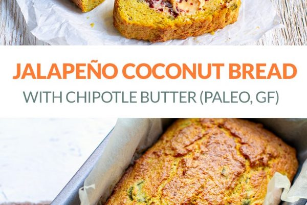 Jalapeno Paleo Coconut Bread With Chipotle Butter