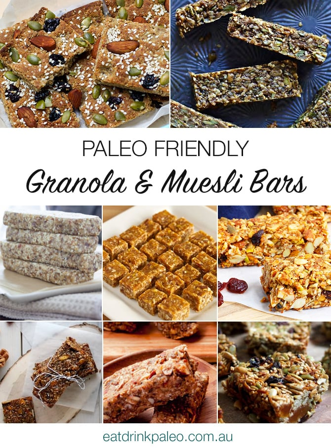 Paleo Friendly Granola & Muesli Bars
