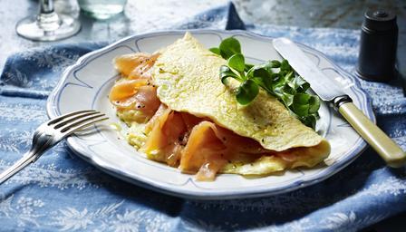 Smoked Salmon Omelette Paleo