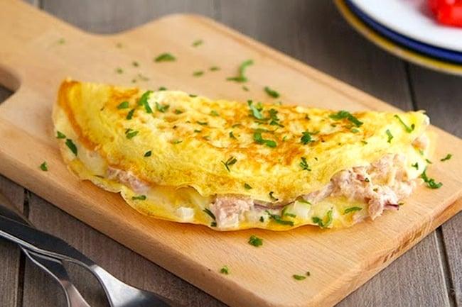 Tuna Melt Omelette - Keto