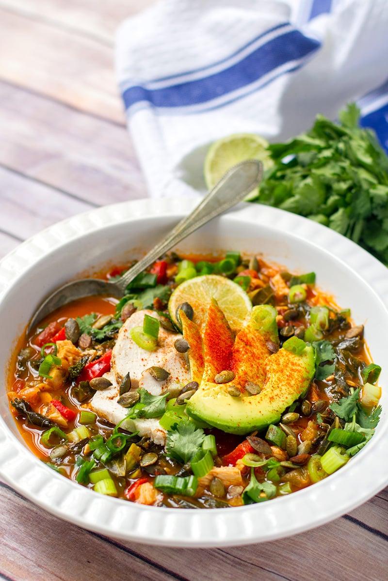 Whole30 Chicken Tortilla Soup Recipe