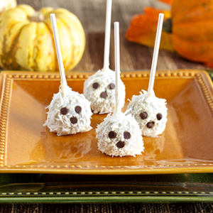 Paleo Ghost Truffles Halloween