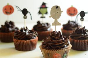 Paleo Halloween Chocolate Cupcakes