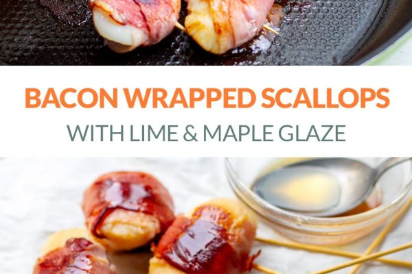 Bacon Wrapped Scallops With Lime & Maple Glaze