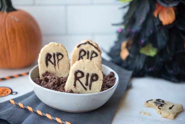 Halloween Tombstone Cookies (Paleo)
