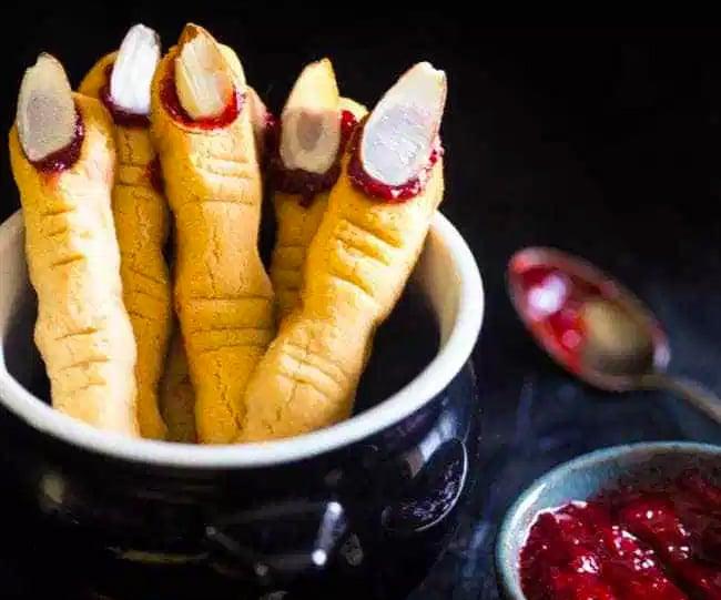 Paleo Halloween Witch Finger Cookies