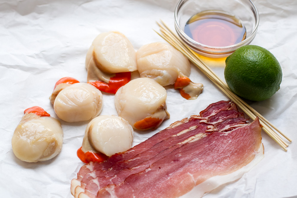 scallop_bacon_skewers_ingredients