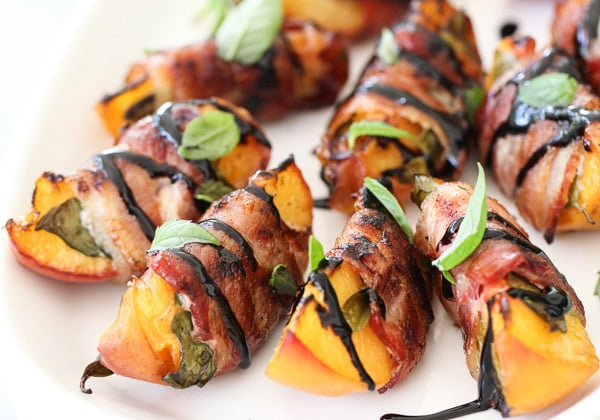Paleo Appetizers: Bacon Wrapped Peaches