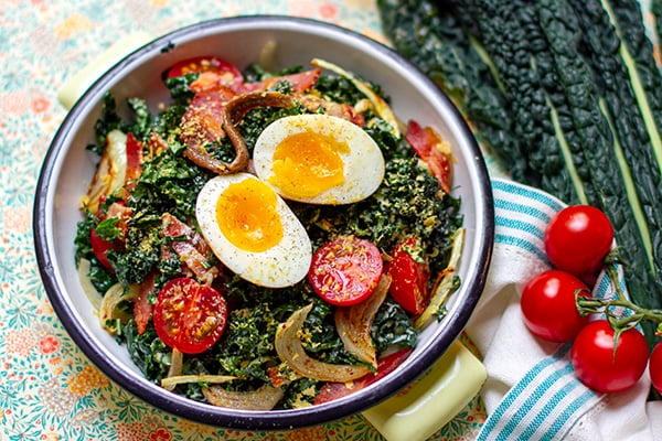 Paleo kale Caesar Salad