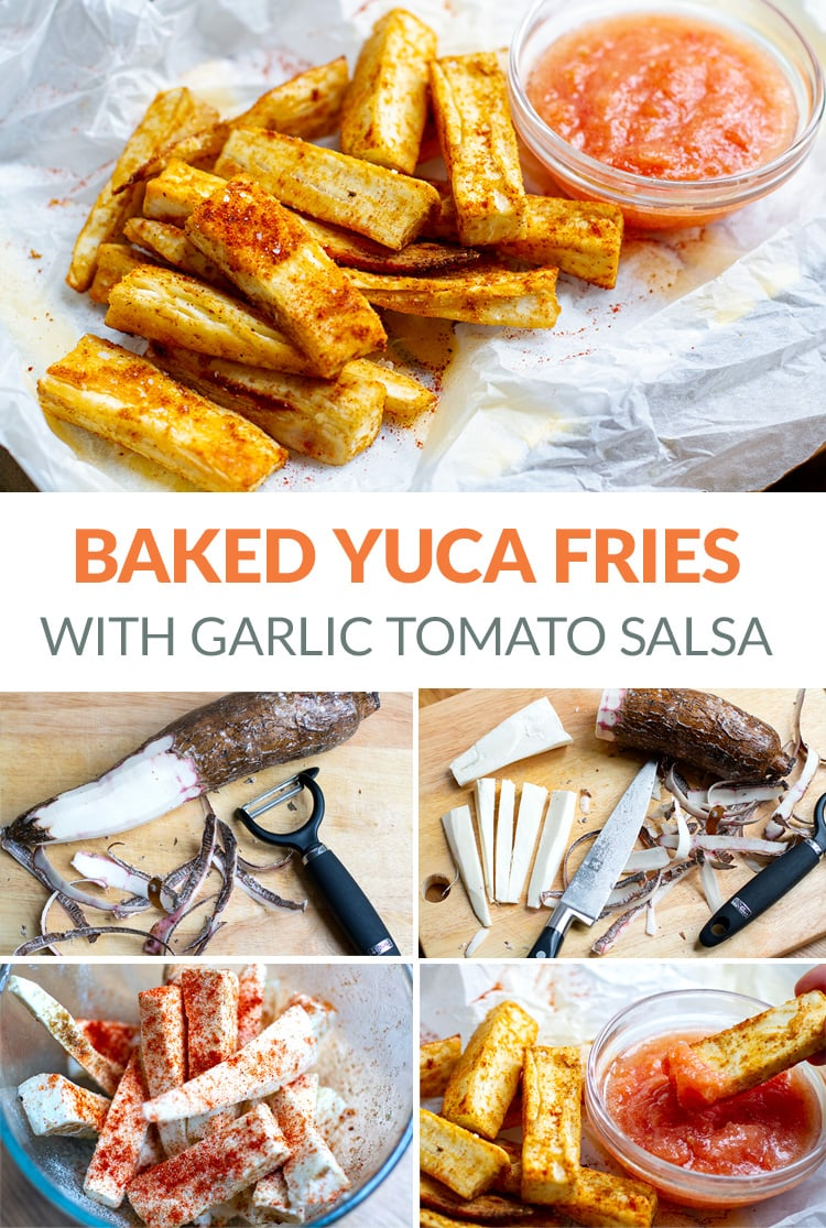 Baked Yuca Fries With Garlic Tomato Salsa (Yucca Fries)