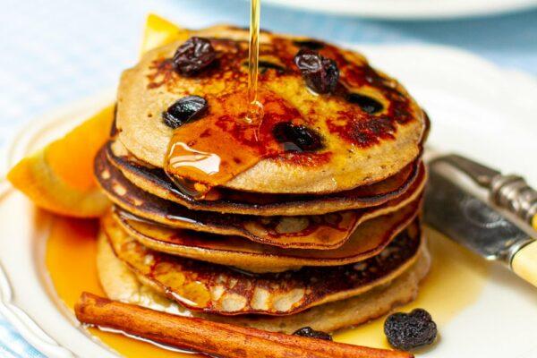 Raisin & Cinnamon Easter Pancakes