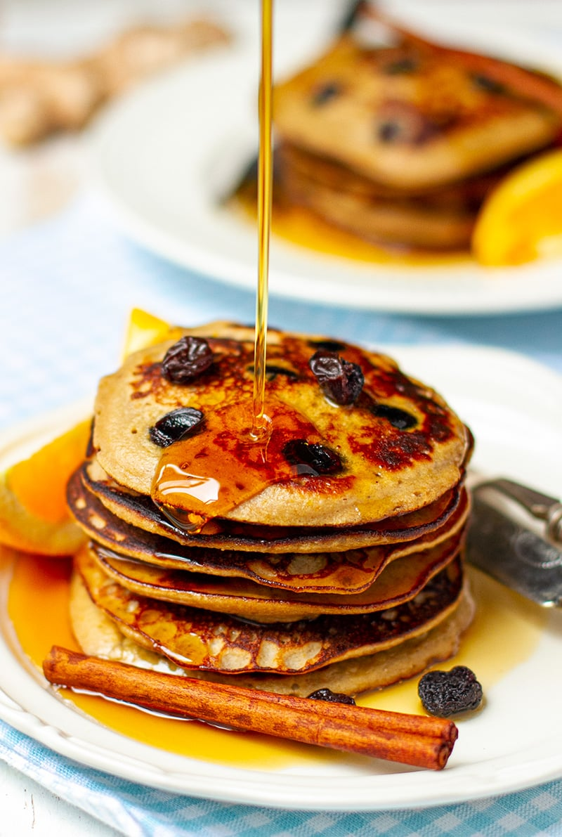 Easter Cinnamon Raisin Pancakes (Hot Cross Bun Inspired)