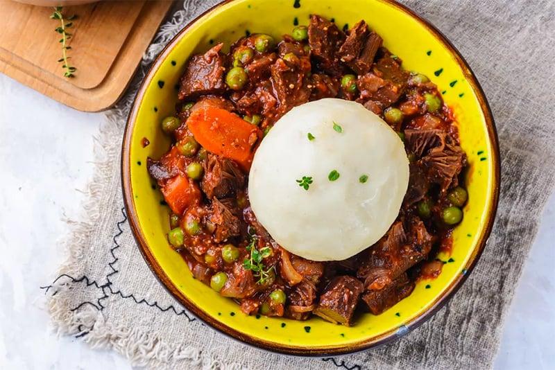 Boiled pounded yam fufu