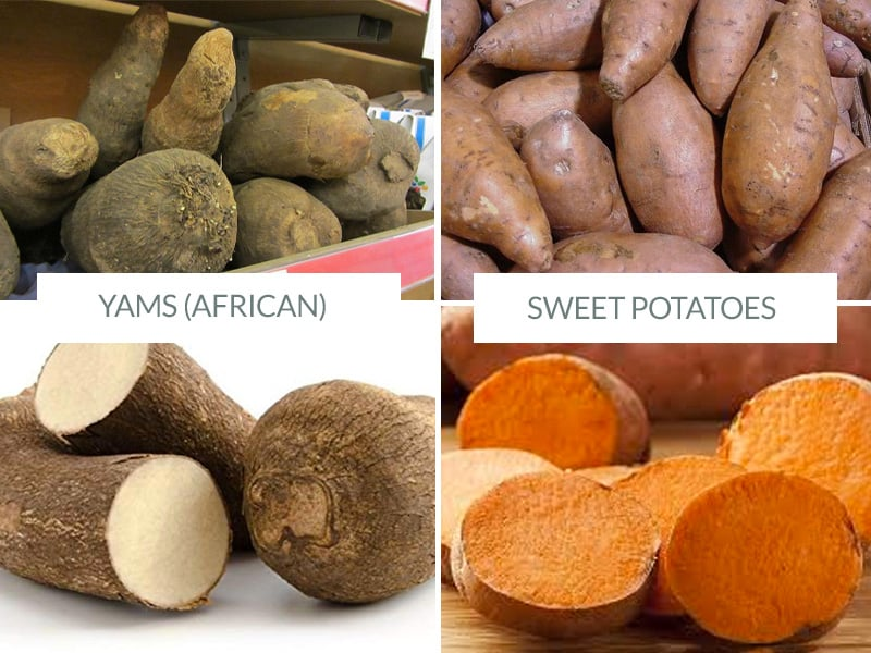 Yams vs Sweet Potatoes