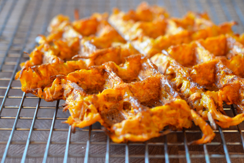 Sweet potato waffles from Well Fed 2 via nomnom paleo