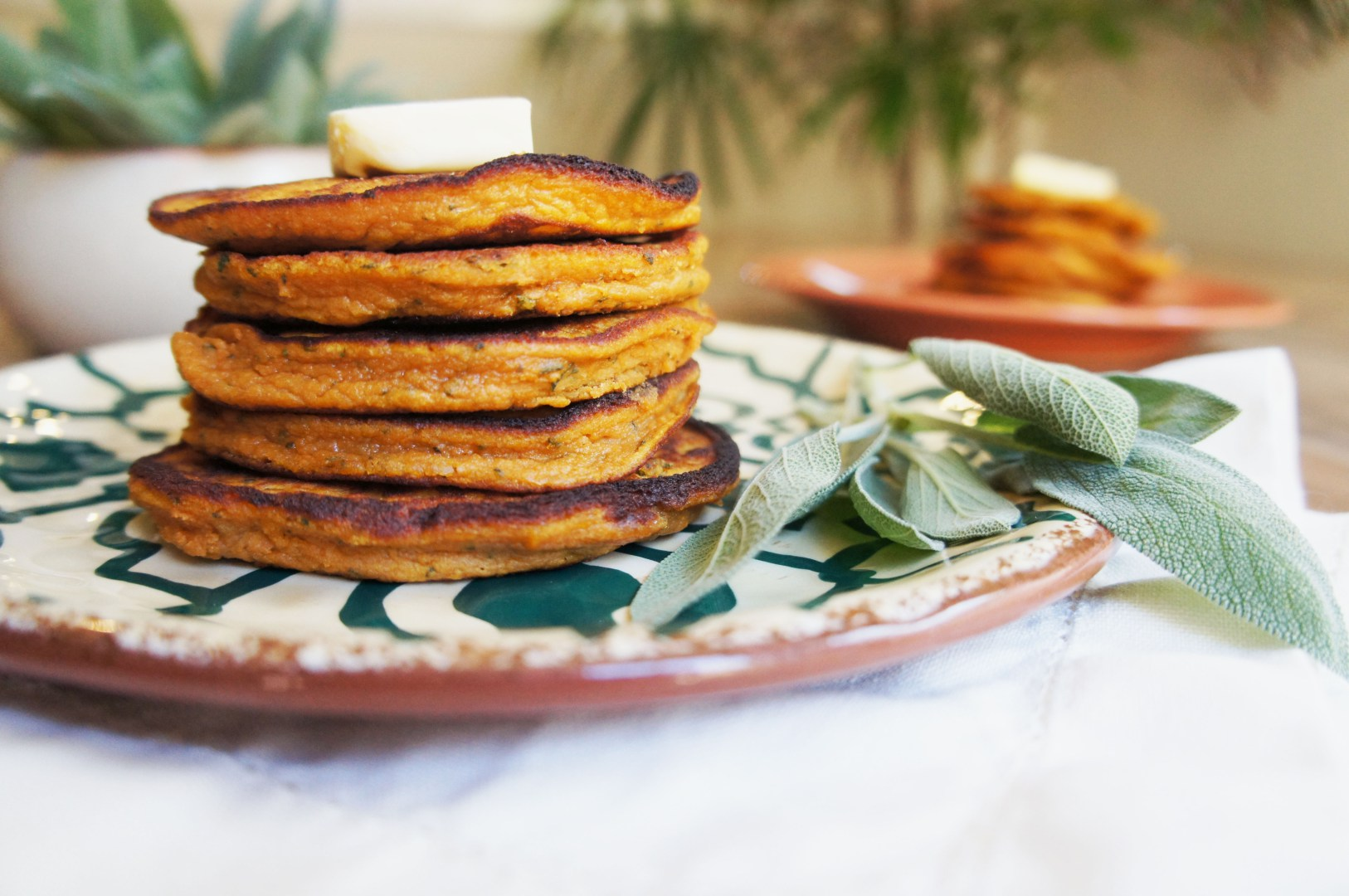 paleo sweet potato pancakes with sage