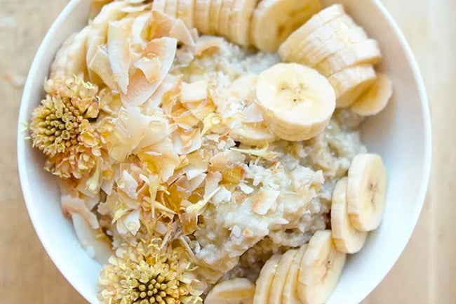 Banana cream pie paleo oatmeal porridge