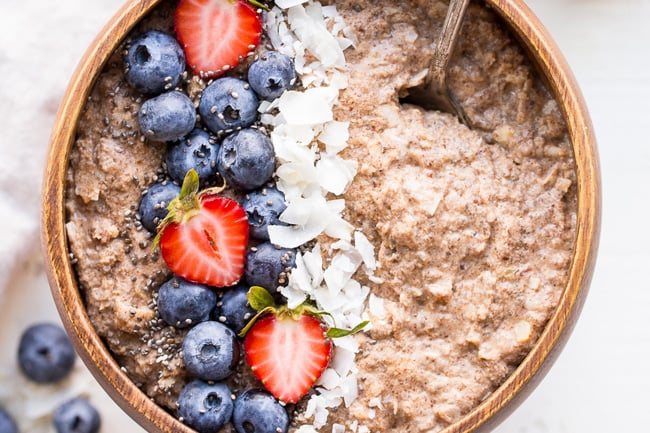 Whole30 friendly oatmeal porridge