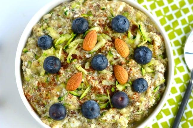 Zucchini paleo porridge