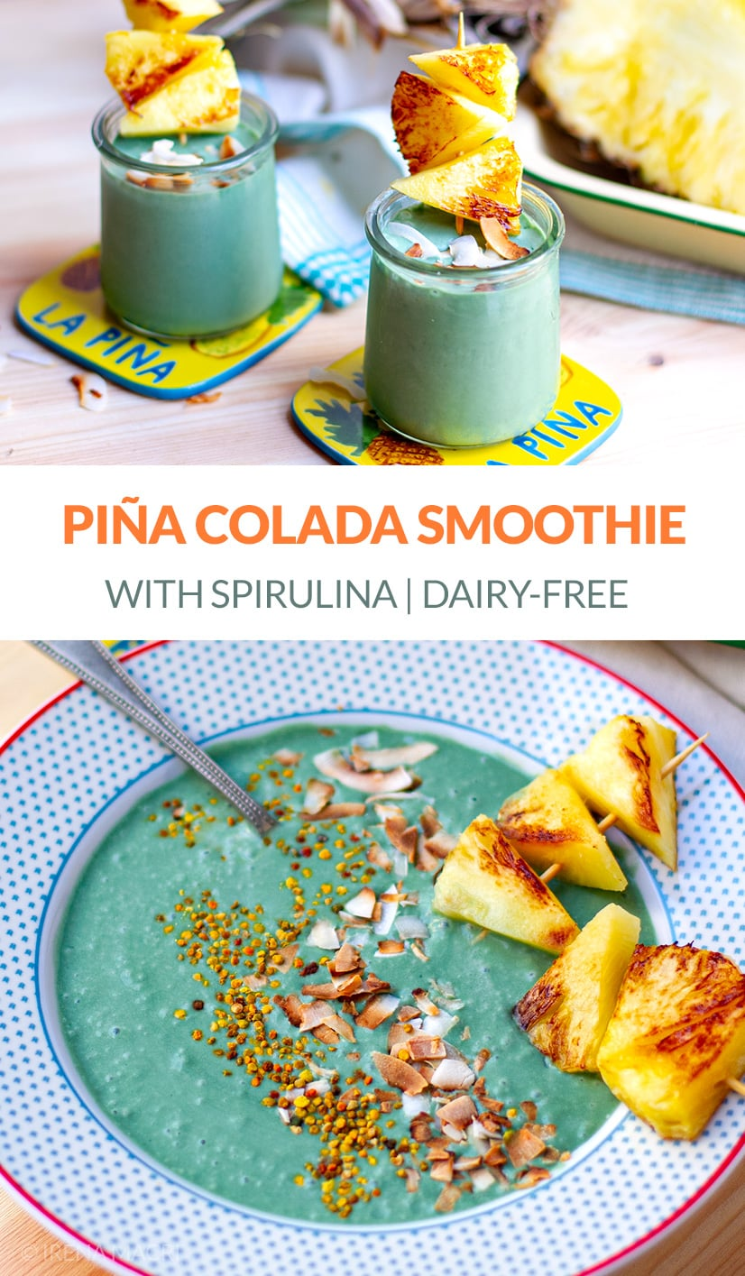 Piña Colada Smoothie With Spirulina