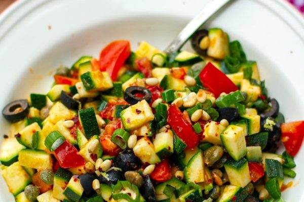 Raw Zucchini Caponata Salad (Whole30, Paleo, Gluten-Free)