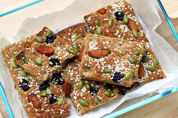 Paleo Protein Bars Breakfast Style