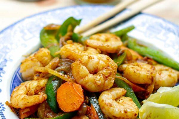 Coconut Curry Shrimp Stir Fry (Paleo, Gluten-free, 15 Minutes)