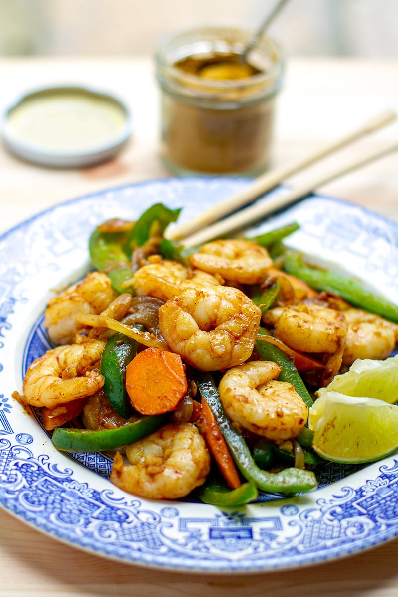 Coconut Curry Shrimp Stir Fry (Paleo, Gluten-free, 15 Minutes)