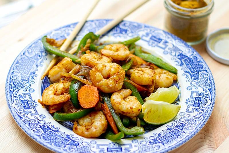 Coconut Curry Shrimp Stir Fry