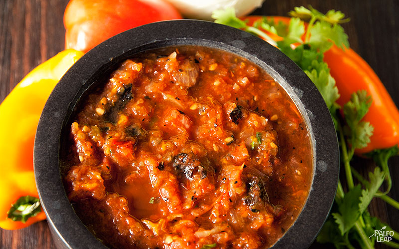 Fire Roasted Salsa by Paleo Leap