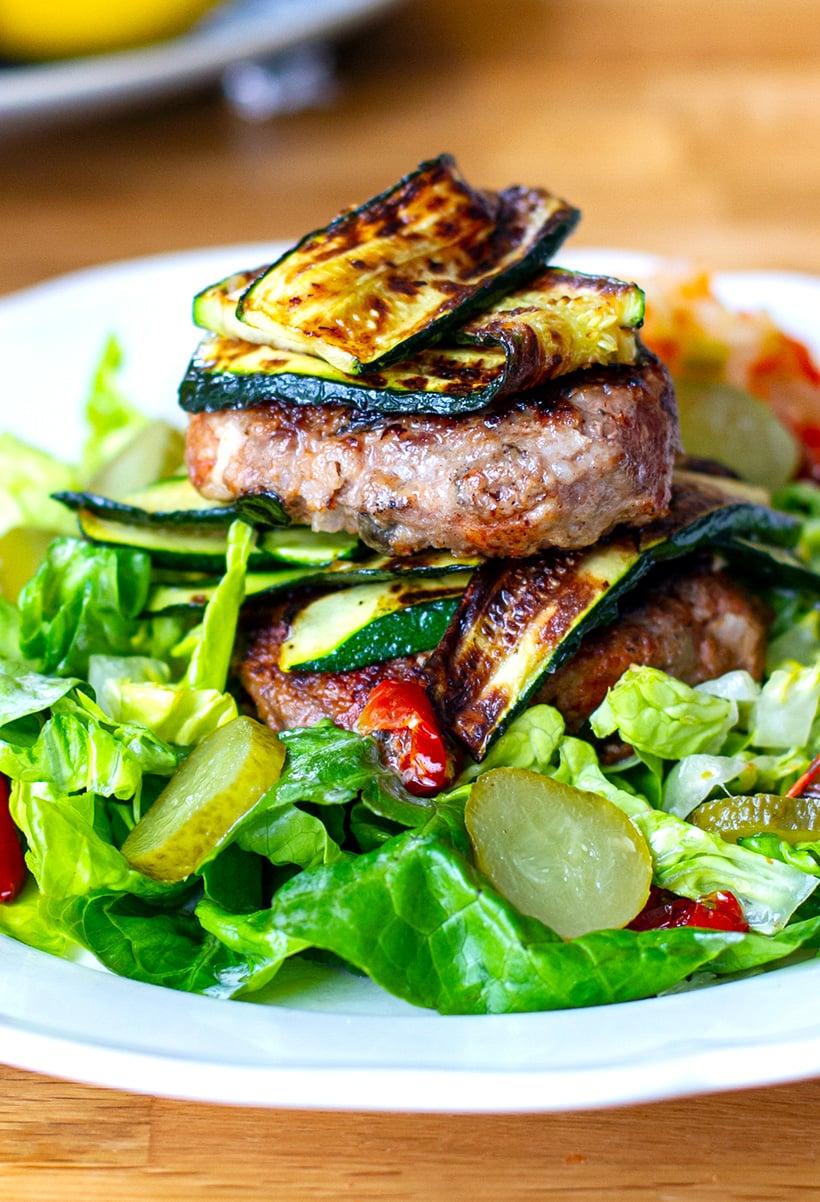 Lamb Burgers With Feta & Olives
