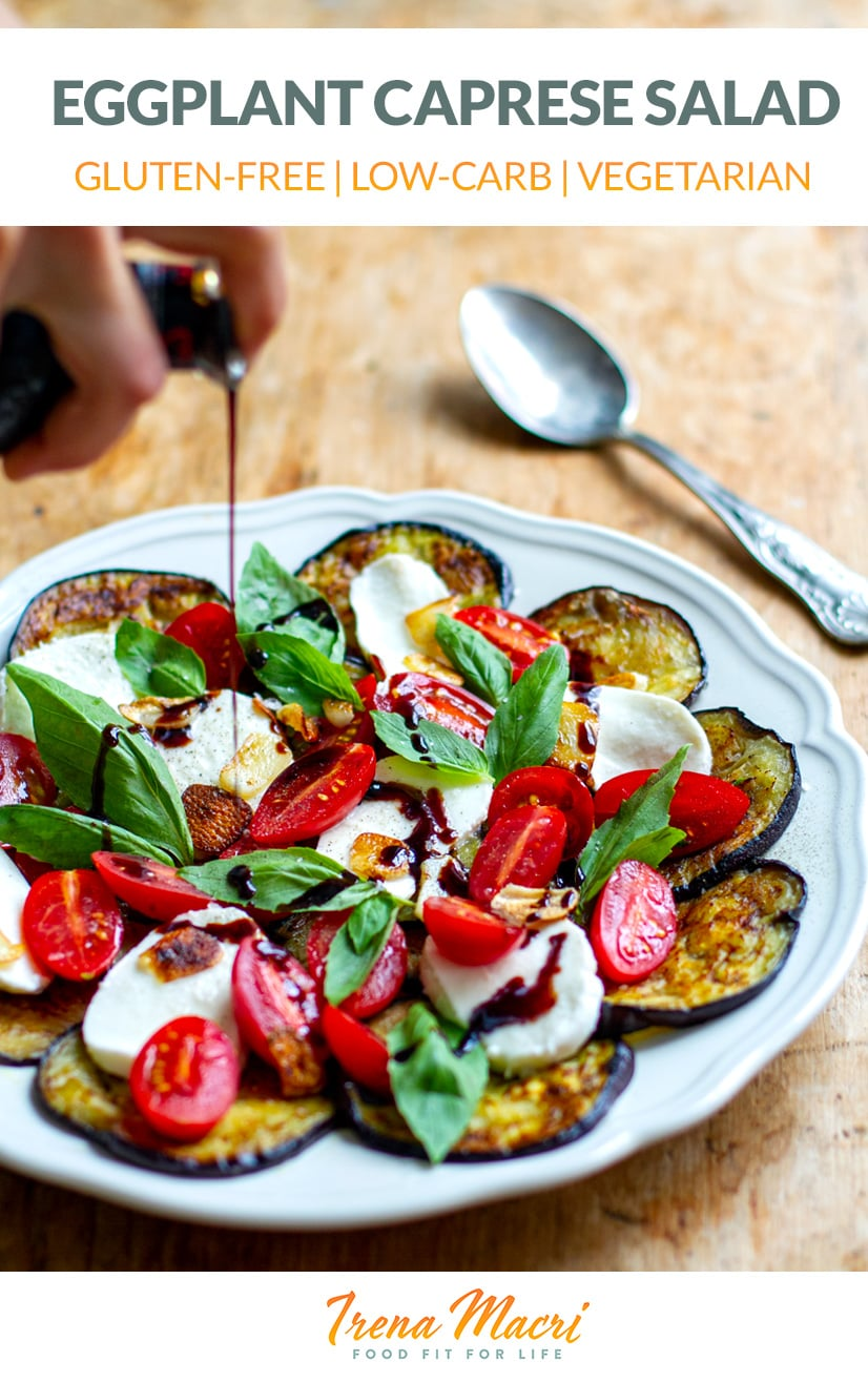 Caprese Salad With Fried Eggplant, Tomatoes & Mozzarella