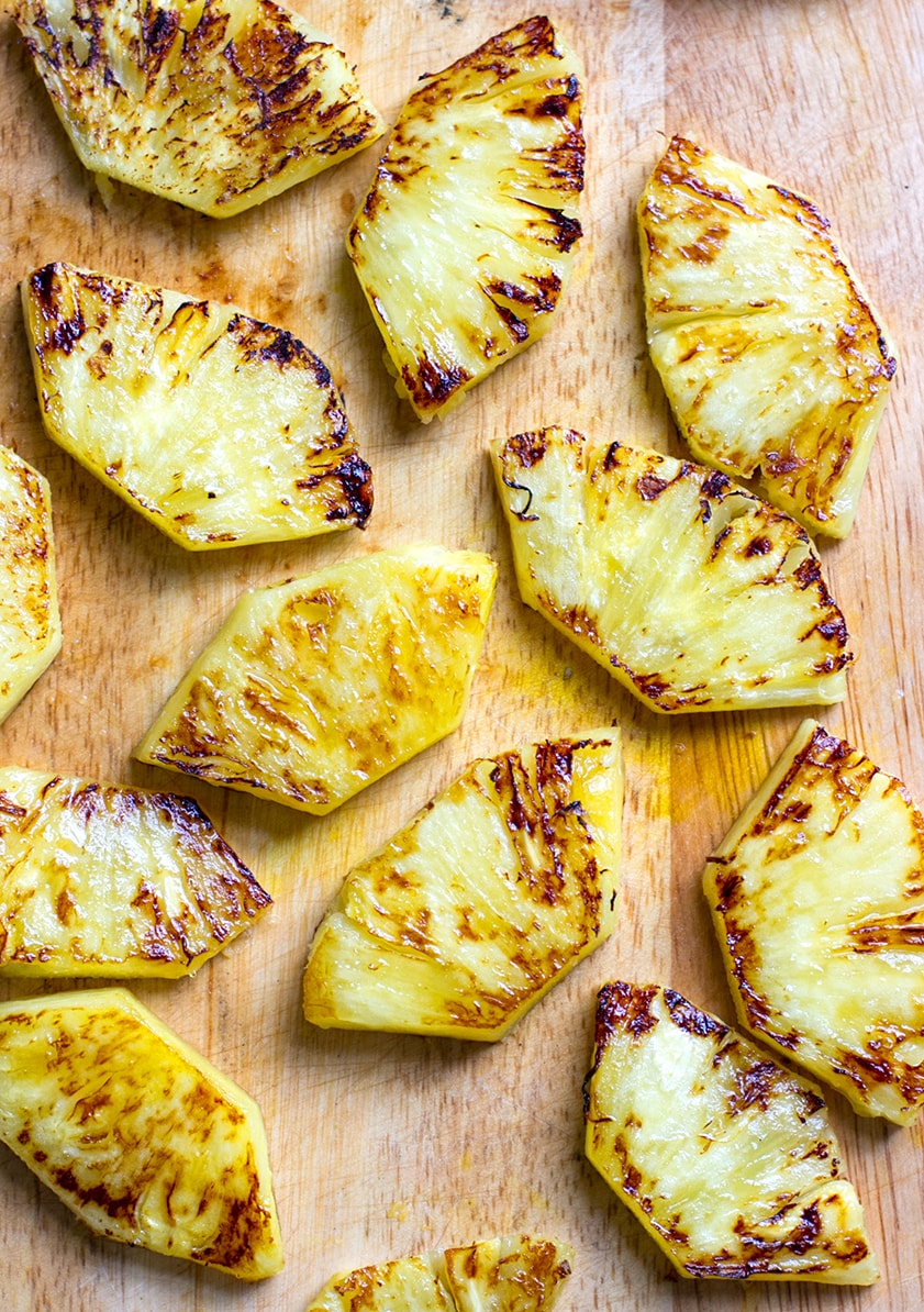 Charred pineapple for salsa