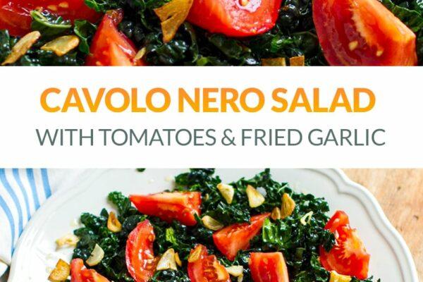 Cavolo Nero Salad With Tomatoes & Fried Garlic