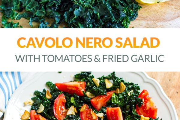 Cavolo Nero Salad With Tomatoes & Fried Garlic Oil