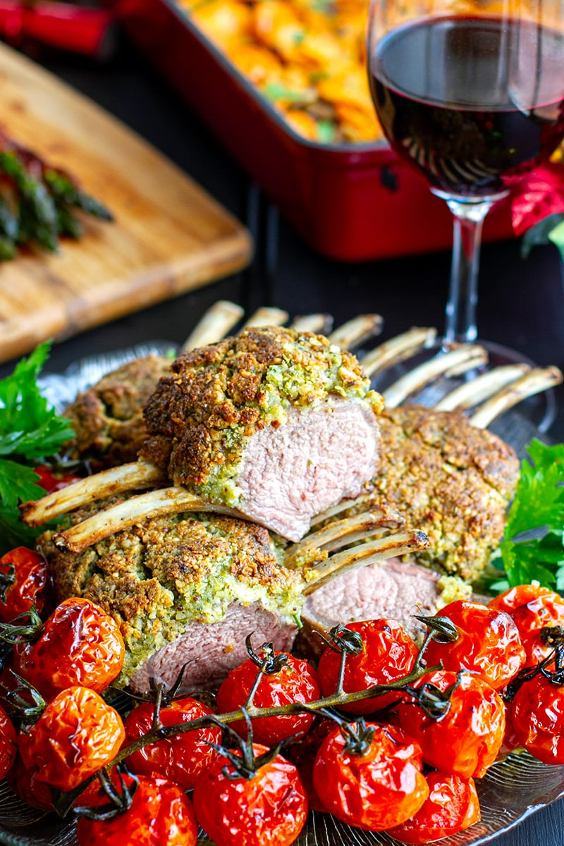 Crusted Rack Of Lamb With Herbs & Macadamia Nuts