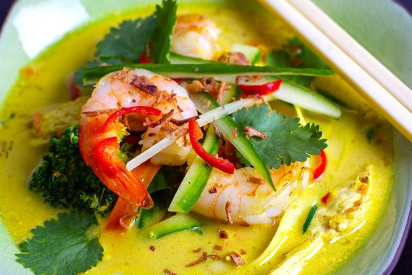 Chicken prawn Thai Laksa