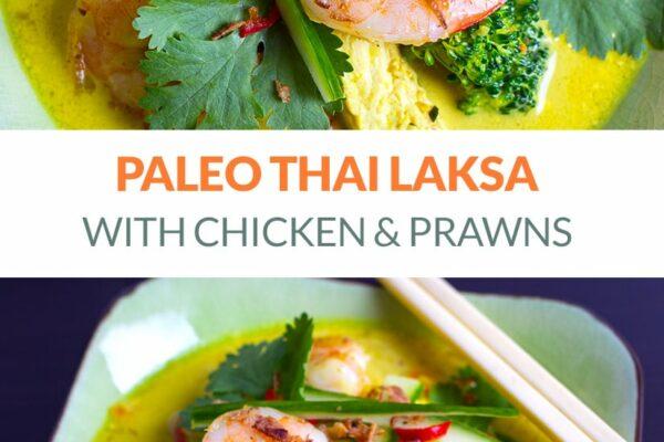 Chicken Shrimp Laksa Soup (Paleo, Gluten-Free)