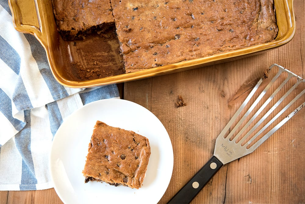 Banana Almond Butter Slice Bars