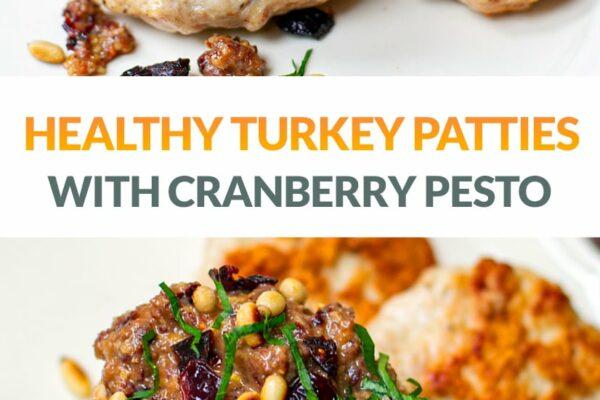 Ground Turkey Patties With Cranberry & Pine Nut Pesto