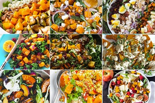 Healthy pumpkin salads