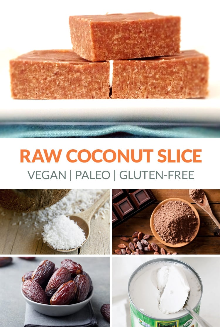 Shredded Coconut Slice (Vegan, Paleo, Gluten-free)