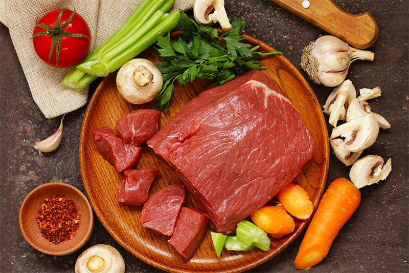 Paleo beef stew ingredients