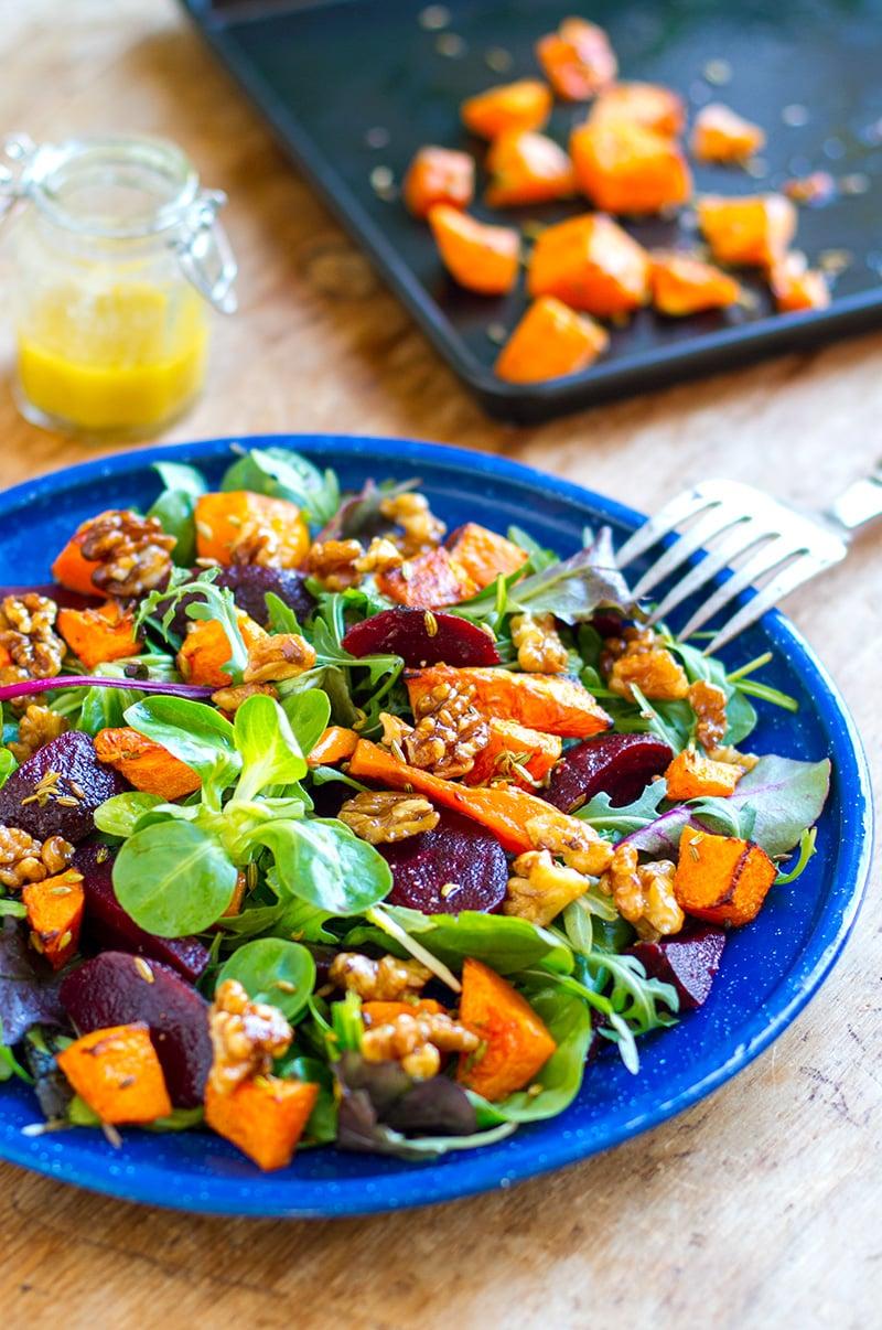 Beetroot pumpkin salad