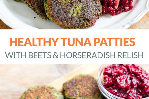 Healthy Tuna Patties With Added Kale & Beet Horseradish Relish (AIP, Paleo, Gluten-free, Whole30)