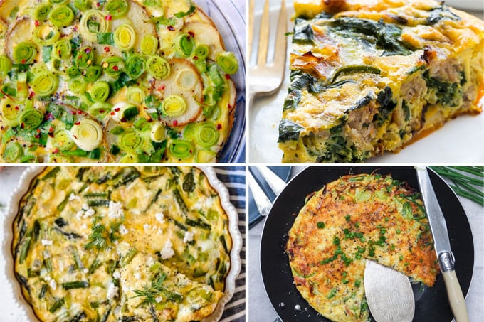 Leek Frittata & Quiche Recipes