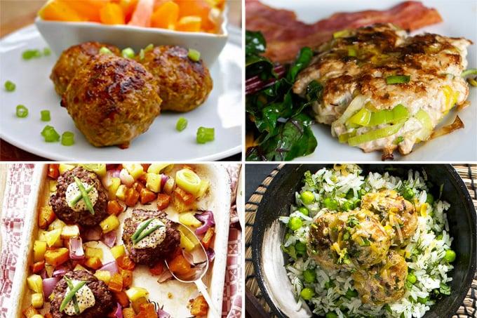 Leek meatballs & burgers