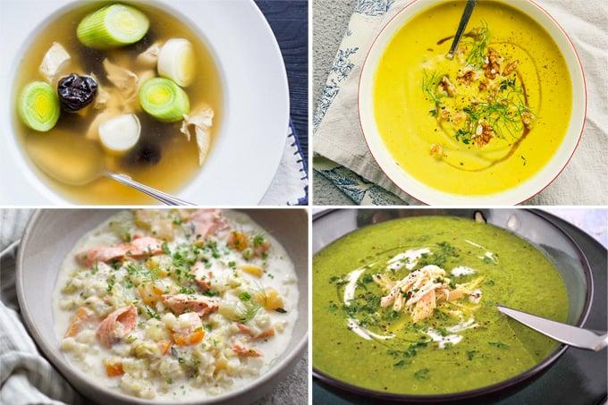 Leek soups