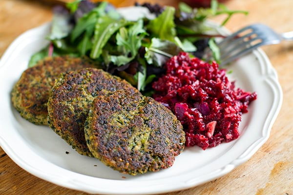 Healthy Tuna Patties With Kale & Beetroot Relish