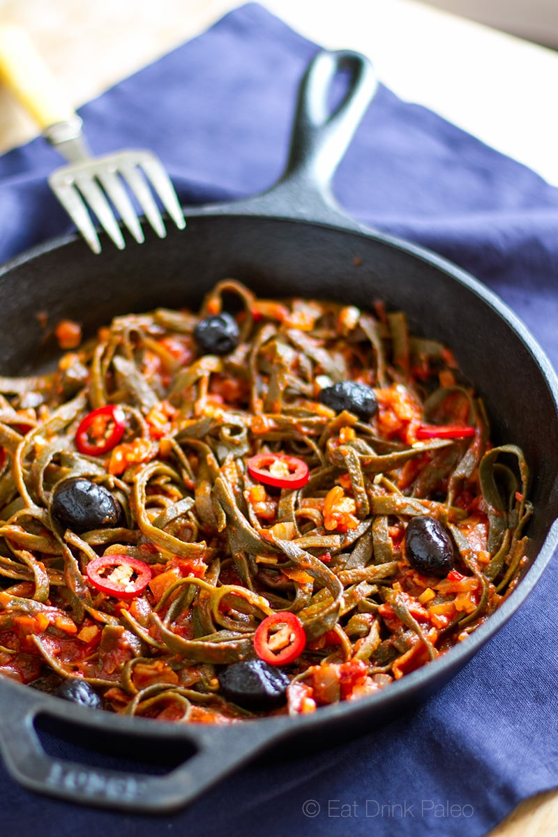 Seaweed Pasta All Amatriciana Low Carb Gluten Free